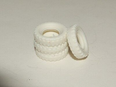 15-3-4 White Block Treaded Tires for Dinky 1960's Saloons 15mm
