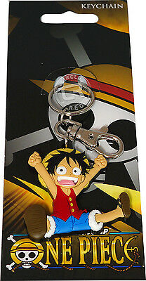 One Piece Anime Chibi SD Luffy PVC Key Chain Official New GE Animation