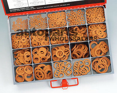 CHAMPION MASTER KIT FIBRE WASHERS ASSORTMENT (978 Pieces)