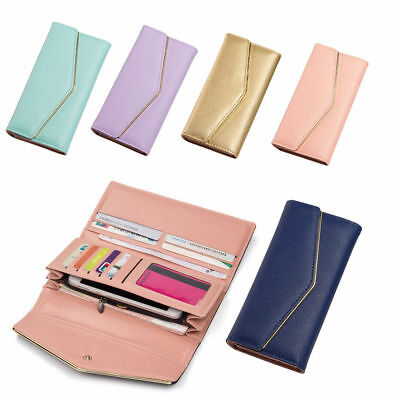 New Women Envelope Leather Multi-functional Wallet Phone Case Card Holder Purse
