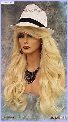 """28"""" Wavy Heat Friendly Wig Color 613 Blond Gorgeous Sexy Long Thick Usa 146"""