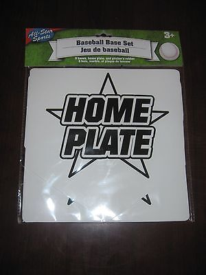 Baseball Bases Inclueds Home Plate,3 Bases, Pitchers Rubber New In Package
