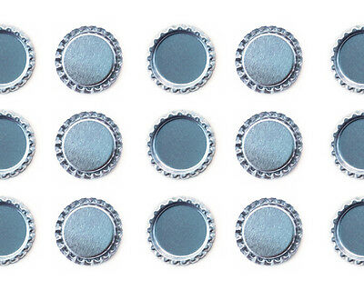 """1000 PCS FLAT 1"""" CHROME SILVER BOTTLE CAPS LINERLESS Flattened No Liners"""