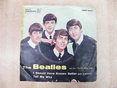 "The Beatles 45 Giri 7"" I Should Have Known Better Tell Me Why Qmsp 16367 1964"