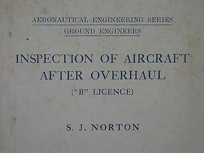 Inspection of Aircraft After Overhaul B Licence By SJ Norton 1935 Wood Airframes