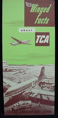 Winged Facts about TCA Trans-Canada Airline Original 1951 Advertising Pamphlet