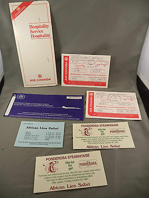Air Canada Hospitality Itinerary Halifax Toronto Ottawa Ticket Lot 1987 Obsolete