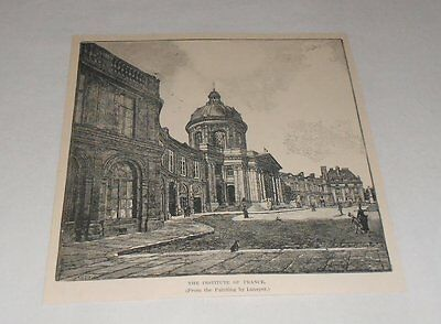 1895 magazine engraving ~ INSTITUTE OF FRANCE