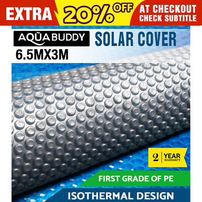 6.5MX3M Solar Swimming Pool Cover 400 Micron Isothermal Bubble Blanket 2 YR WRTY