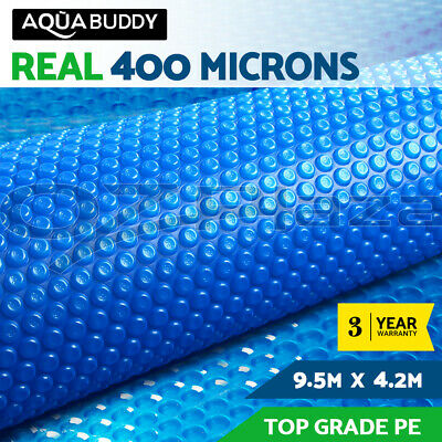 9.5 x 4.2M Solar Swimming Pool Cover 400 Micron Outdoor Bubble Blanket
