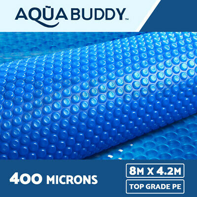 8 x 4.2M Solar Swimming Pool Cover 400 Micron Outdoor Bubble Blanket