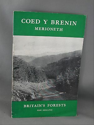 Coed Y Brenin Merioneth Britain's Forests 1956 Wales Booklet Tourist Advertising