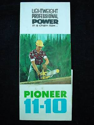 Color Advertising Brochure Lightweight Pioneer 11-10 Chainsaw Chain Saw