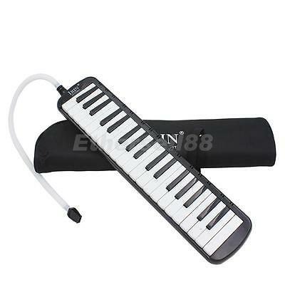 Black 37 Keys Melodica Musical Instrument Beginners Students Childrens Gift