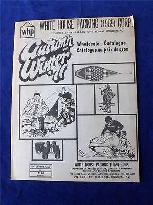 White House Packing Corp. Wholesale Catalogue Autumn Winter 1971 Hunt Fish