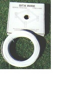 SITA white nylon horse fencing sighter wire 4mm x 110m