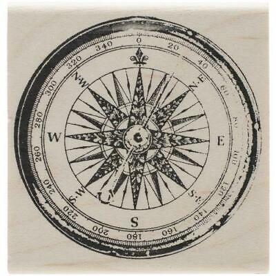 """""""Tim Holtz Mounted Red Rubber Stamp 2""""""""X2""""""""-Compass"""""""