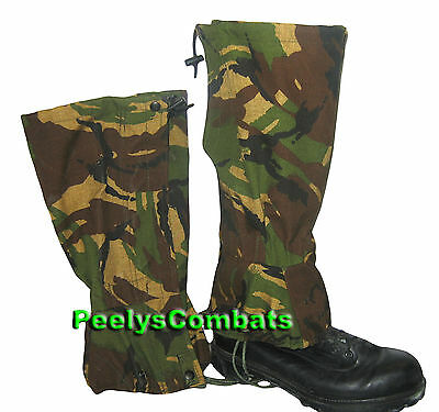 Genuine MILITARY Surplus GORE-TEX Waterproof DPM Camouflage GAITERS
