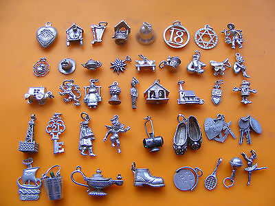 J Vintage Sterling Silver Charm Bell 18 Spider Pixie Pram Church Cherub Keys