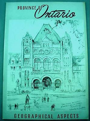 Province of Ontario Geographical Aspects Tourist Booklet Maps History 1940's