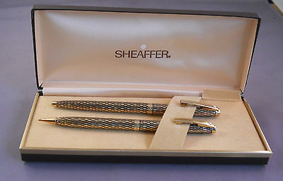 Sheaffer White Dot Imperial Soverign Ball Pen and Pencil--new old stock--sticker