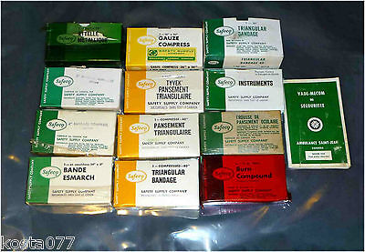 Vintage Lot First Aid Supplies, Safeco, Safety Supply Company