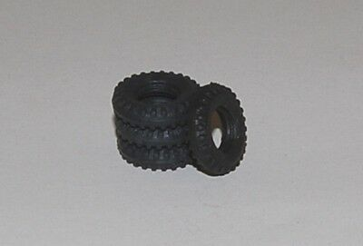 18-2-4 Dinky Black Treaded Tires for Army Vehicles Plus  Bedfords, Commers etc