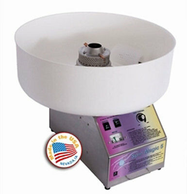 COTTON CANDY MACHINE w/plastic BOWL 7105300 Spin Magic