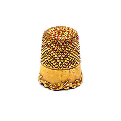 Solid 14K Yellow Gold Thimble ~ No Mono