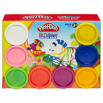 Play Doh Rainbow Starter Pack 8 Pots  Brand New