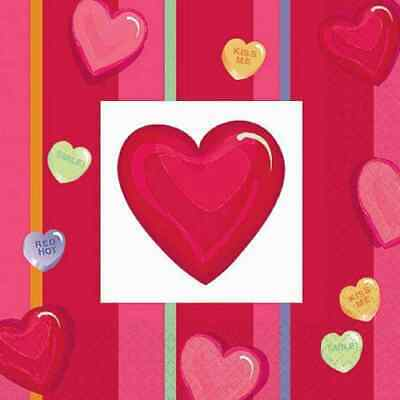 Candy Crush Valentine/'s Day Hearts Theme Holiday Party Paper Luncheon Napkins