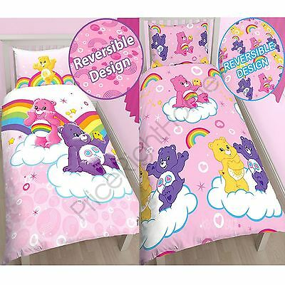Care Bears Single Duvet Cover Sets Official Kids Bedding New Free P+P