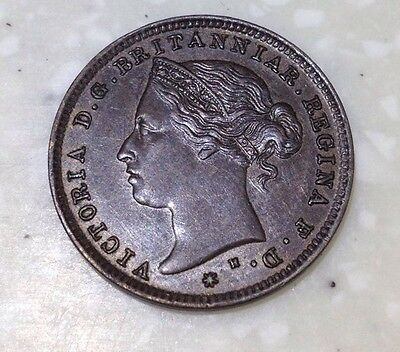 Very high grade1877 Jersey 1/48th Of A Shilling Coin