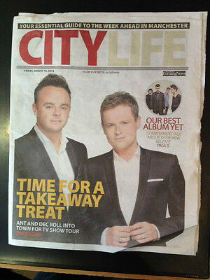 Ant & Dec City Life Cover Clippings Manchester UK Promo Courteeners Liam Fray
