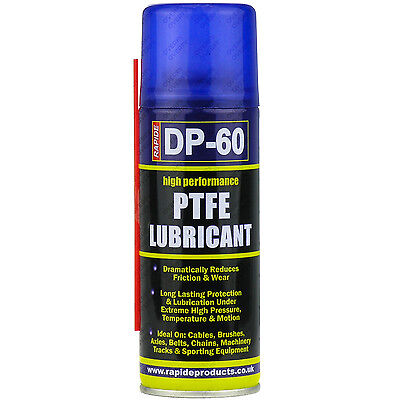 3 x 200ml High Performance PTFE Spray Lubricant Cycle Oil Protection Corrosion