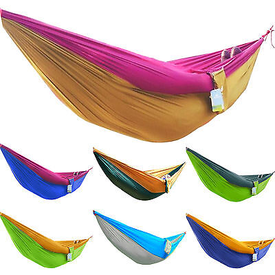 Double Person Portable Parachute Nylon Fabric Hammock for Indoor Outdoor Camping