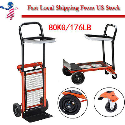 Heavy Duty Folding Truck Hand Sack Trolley Barrow Cart Garden Platform Trolley