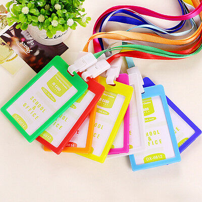 Plastic ID Name Card Holder Case Badge Lanyard Neck Strap Necklace Strap TOCA