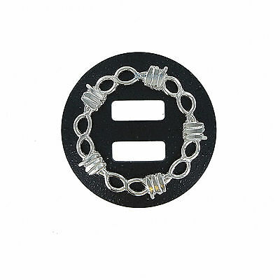 """58S-RBSC150 - One (1) Slotted Concho with Barb Wire 1-1/2""""  for Western Saddle"""