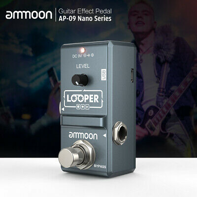ammoon Electric Guitar Effect Pedal Looper True Bypass Unlimited Overdubs X4N3