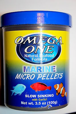 Omega One Marine micro pellets -slow sinking with garlic 100g