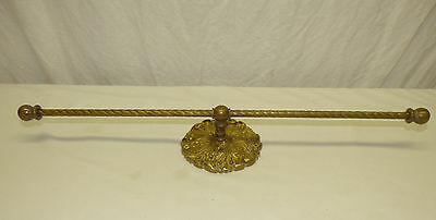 "Old Brass Harvin Virginia Metalcrafters 21"" Towel Bar Acanthus Leaf Center Mount"