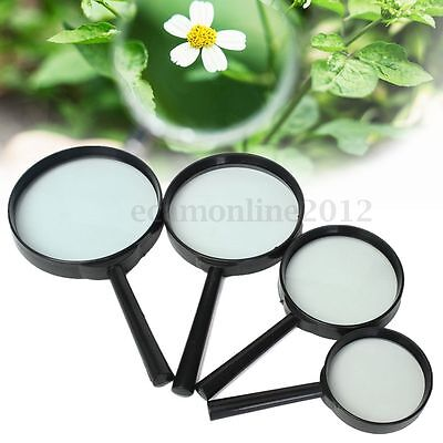 60 75 90 100mm Magnifying Glass 5x Minimal Distortion Magnifier Optical Reading