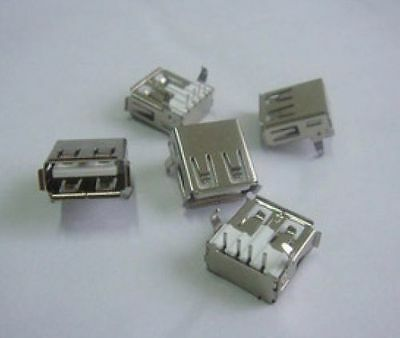 DZ113 50Pcs USB-A Female Right-Angle PCB Mount Cable Jack Connector free ship ✿