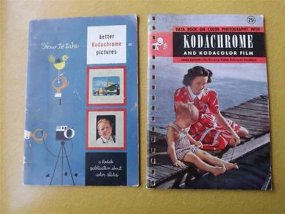 Kodak Booklets Data Book Kodacolor How Take Better Kodachrome Pictures 1947 55