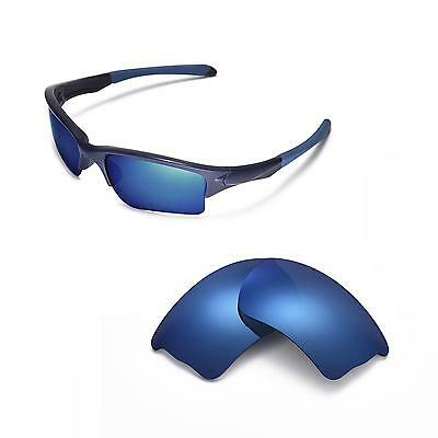 New Walleva Polarized Ice Blue Lenses For Oakley Quarter Jacket Sunglasses