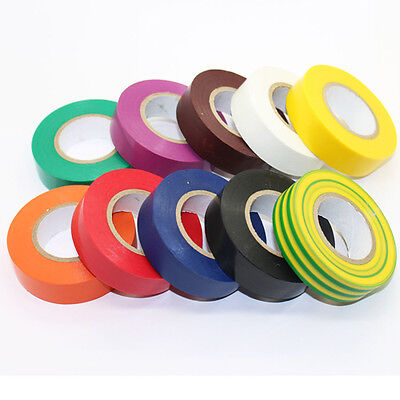 19MM X 20M Electrical Flame Retardent Insulation PVC Tape Roll