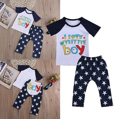 Newborn Infant Baby Boy Girl Sleepwear Pajamas Tops Trousers Clothes Outfits Set