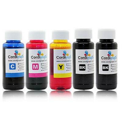 5 x 100ml 5 Color Refill Ink For Canon Ciss and Cartridges