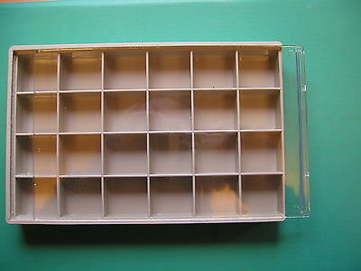 24 sealed compartment storage boxes sliding lid